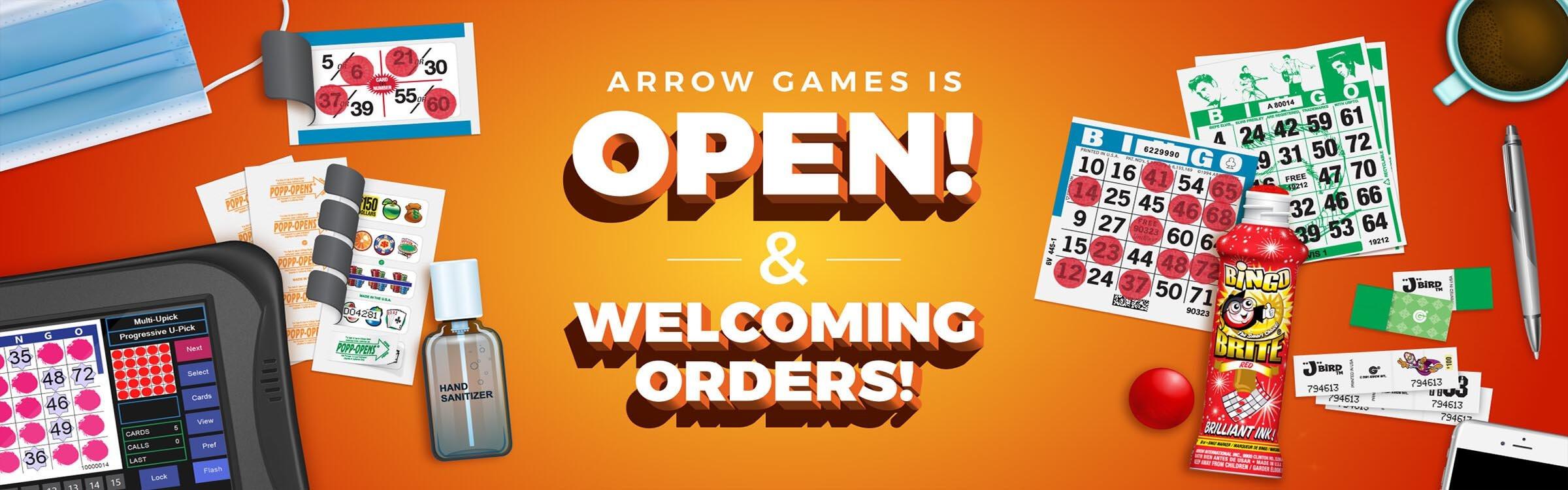 Arrow Games is Open