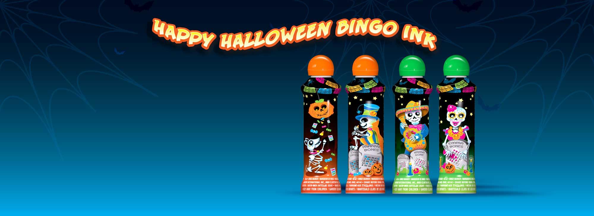 Halloween Bingo Ink Markers