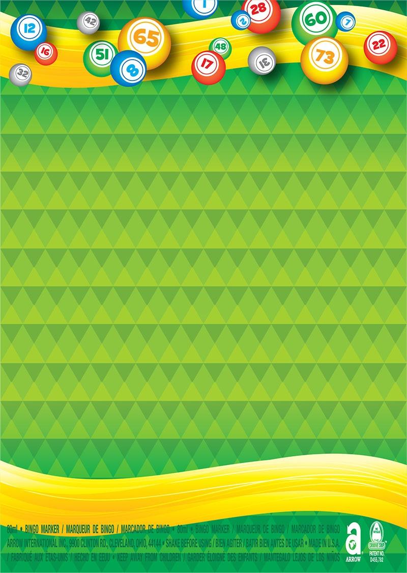Bingo Balls / Triangle Pattern