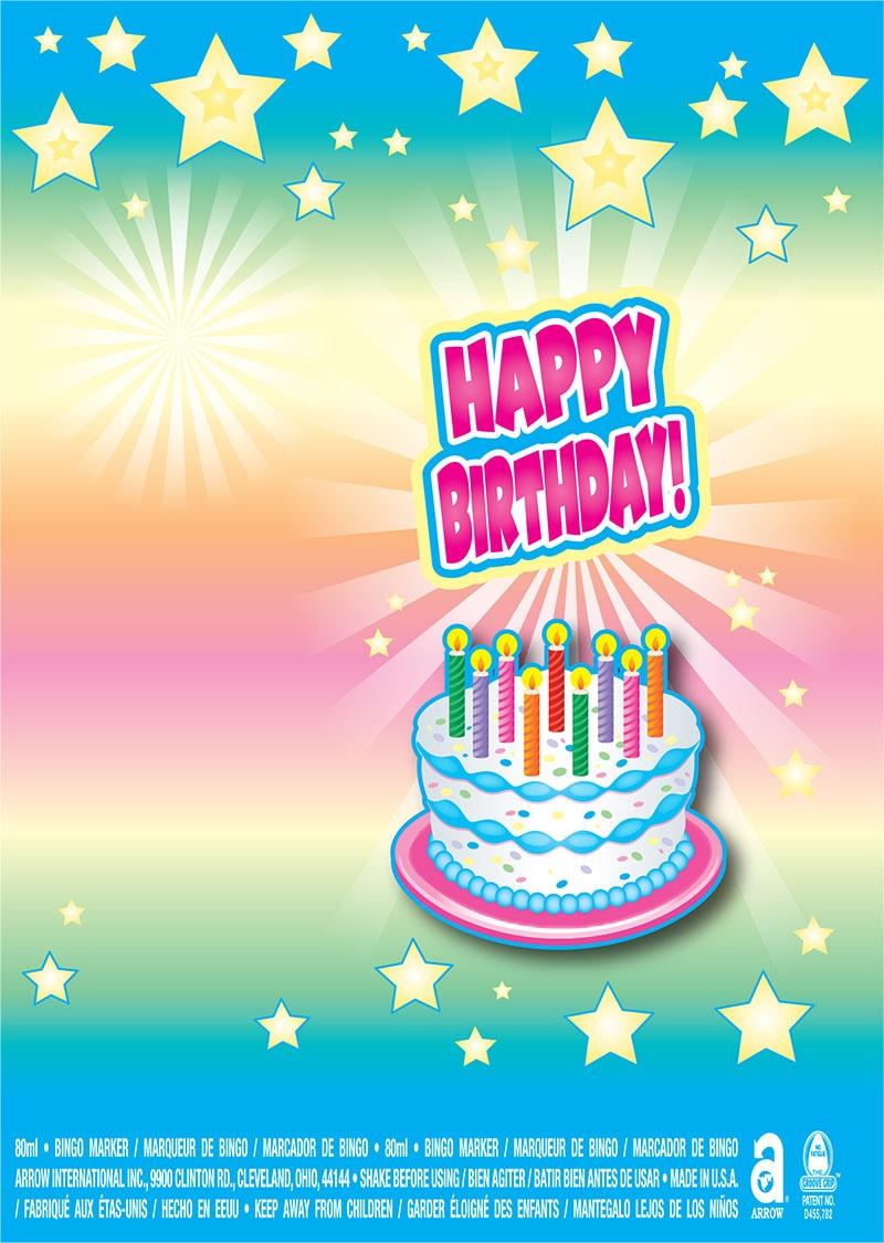 Happy Birthday / Stars and Cake
