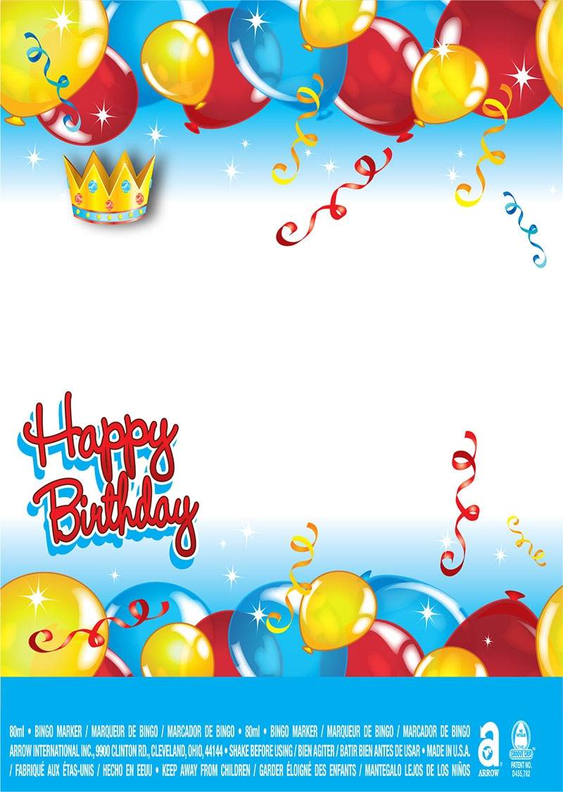 Happy Birthday / Balloons and Crown