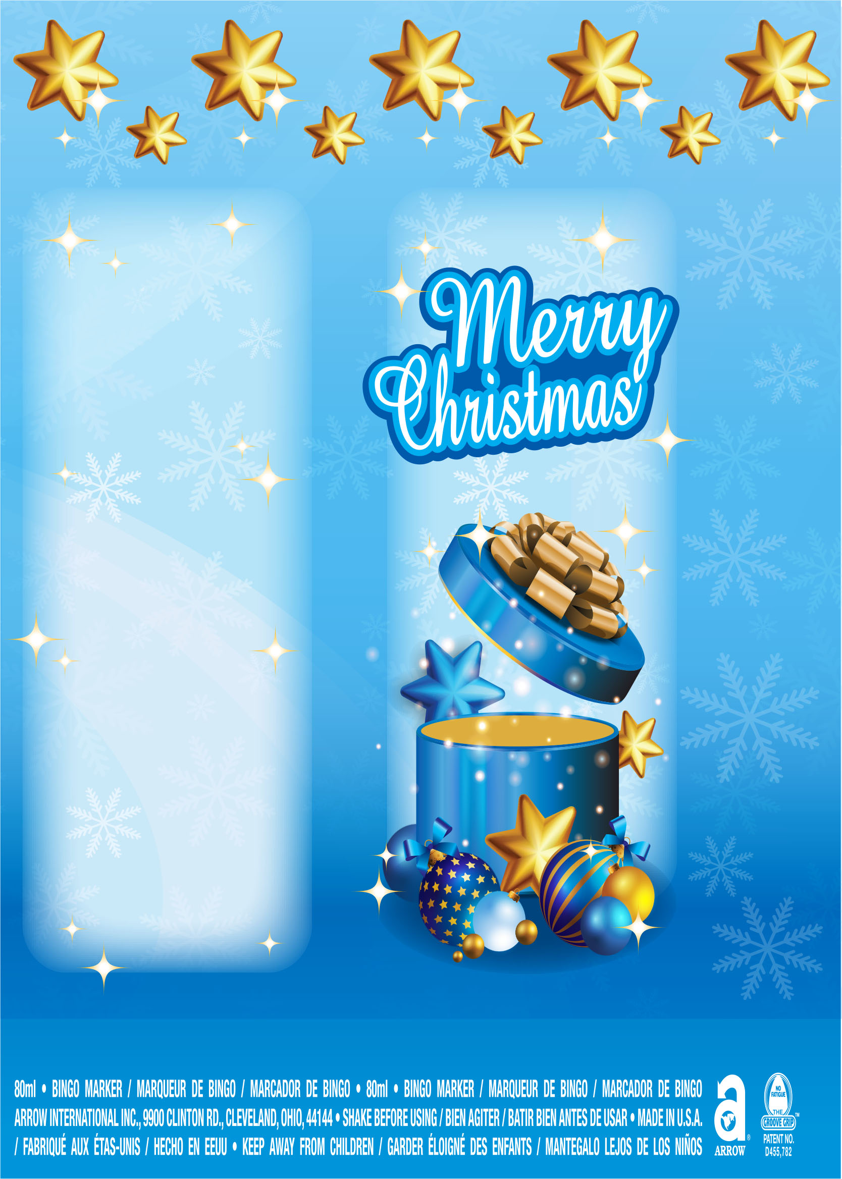 Merry Christmas / Gift and Stars