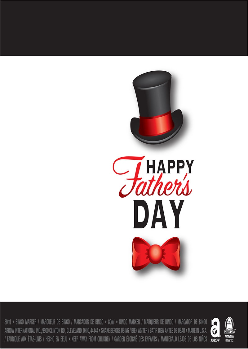 Happy Father's Day / Top Hat and Bow Tie