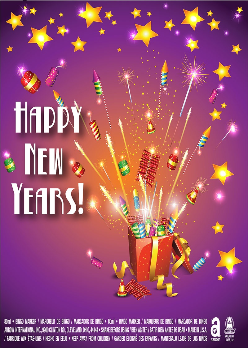 Happy New Years / Fireworks and Gift