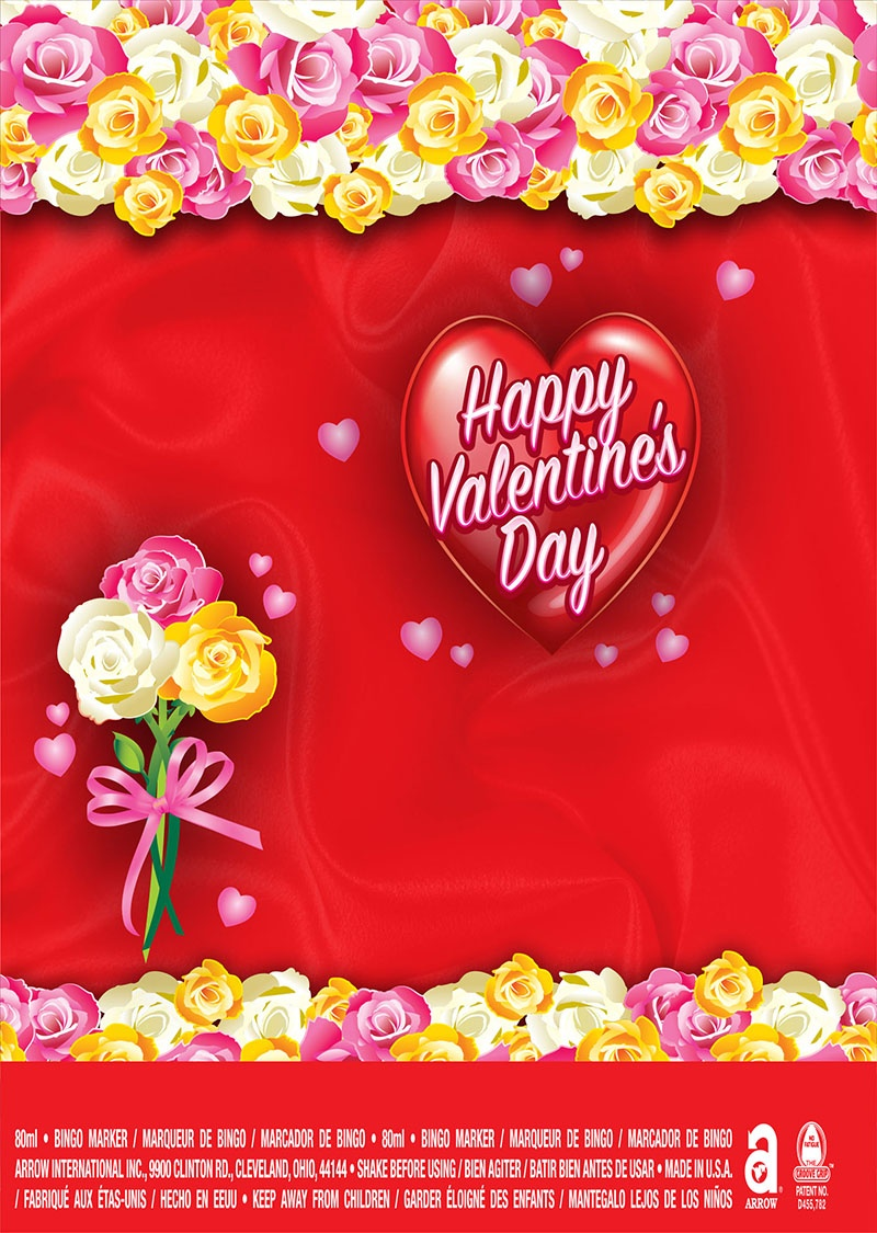 Happy Valentine's Day / Heart and Flowers